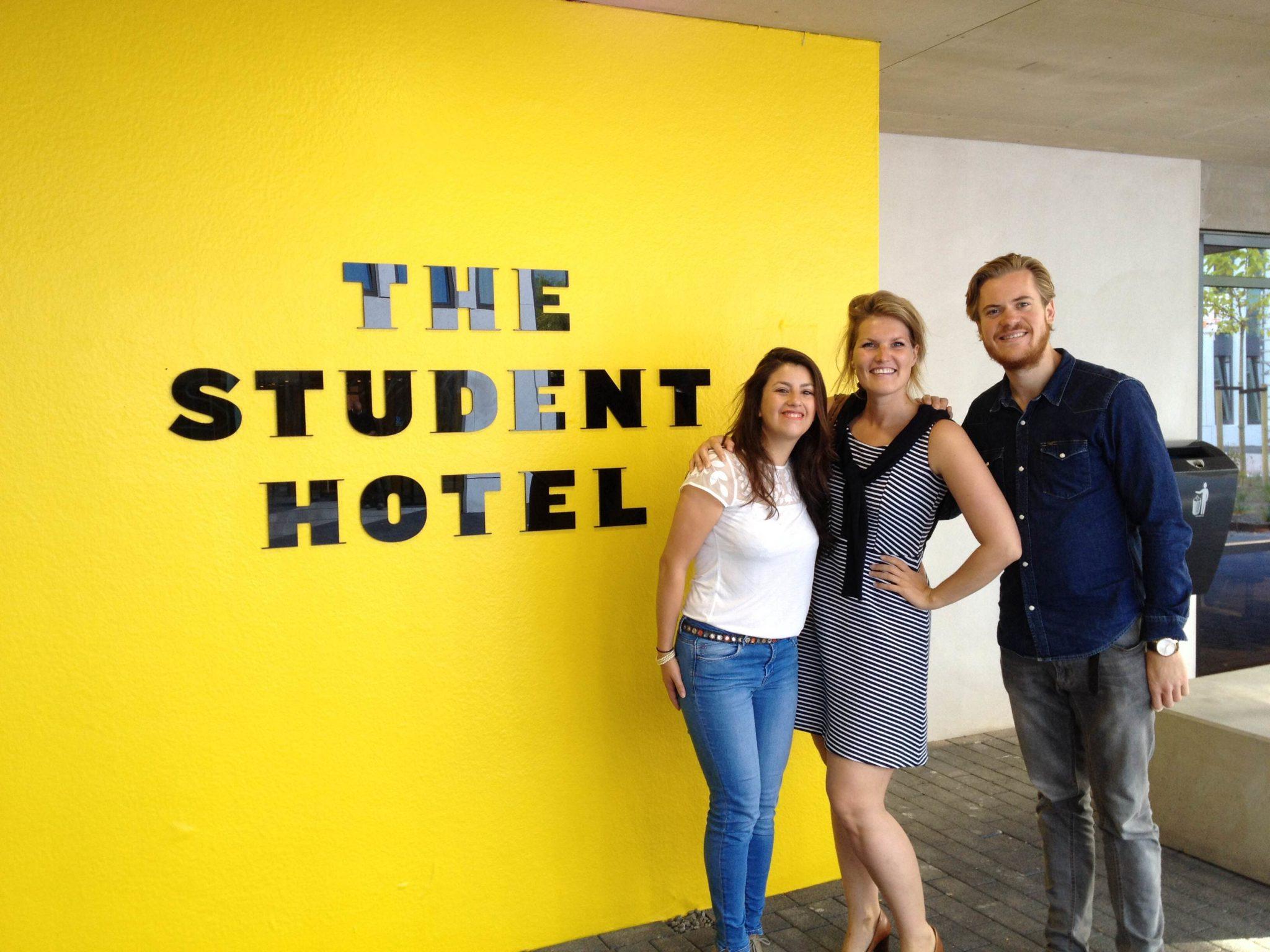 Bezoek bij Student Hotel